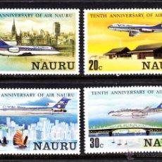 Sellos: NAURU 207/10** - AÑO 1980 - AVIONES - 10º ANIVERSARIO DE LA COMPAÑIA AIR NAURU. Lote 45458591