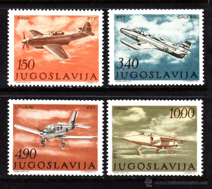 YUGOSLAVIA AEREO 55/58** - AÑO 1978 - AVIONES - DIA DE LA AVIACIÓN (Sellos - Temáticas - Aviones)