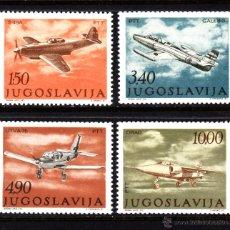 Sellos: YUGOSLAVIA AEREO 55/58** - AÑO 1978 - AVIONES - DIA DE LA AVIACIÓN. Lote 131941911