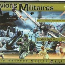 Sellos: GUINEA 2011 HOJA BLOQUE DE SELLOS AVIONES MILITARES DE JAPON 2ª GUERRA MUNDIAL- PEARL HARBOR- AVION . Lote 47652750