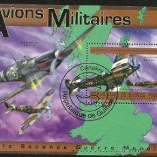 Sellos: GUINEA 2011 HOJA BLOQUE DE SELLOS AVIONES MILITARES DE GRAN BRETAÑA 2ª GUERRA MUNDIAL- AVION . Lote 47652790