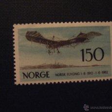 Timbres: NORUEGA Nº YVERT 425** AÑO 1962.50 ANIVERSARIO AVIACION NORUEGA. SERIE CON CHARNELA . Lote 48526733