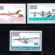 Sellos: MICRONESIA AÉREO 1/3** - AÑO 1984 - AVIONES . Lote 113451904