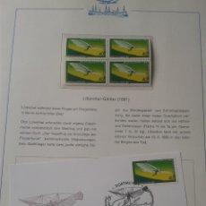Sellos: ALEMANIA 1978 SELLOS Y SOBRE PRIMER DIA TRANSPORTE AEREO- PARAPENTE- AVIONES- AVION- AEROPLANO- FDC. Lote 48752229