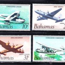 Sellos: BAHAMAS AEREO 1/4** - AÑO 1983 - AVIONES - HISTORIA DE LA AVIACION. Lote 50883617