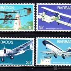 Sellos: BARBADOS 361/64** - AÑO 1973 - AVIONES - HISTORIA DE LA AVIACION. Lote 50883652