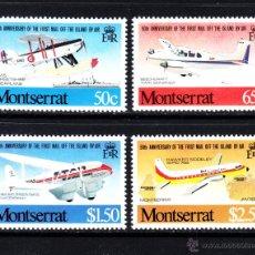Sellos: MONTSERRAT 472/75** - AÑO 1981 - AVIONES - 50º ANIVERSARIO DEL CORREO AEREO DE LAS ISLAS. Lote 50911634