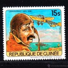 Sellos: GUINEA 743** - AÑO 1984 - AVIONES - L. BLERIOT. Lote 51970139
