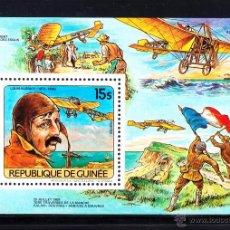 Sellos: GUINEA 743 HB** - AÑO 1984 - AVIONES - L. BLERIOT. Lote 51970150