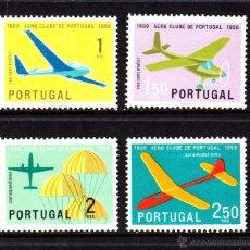 Sellos: PORTUGAL 864/67** - AÑO 1960 - AVIONES - 50º ANIVERSARIO DEL AEROCLUB DE PORTUGAL. Lote 51994957