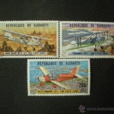 Sellos: DJIBOUTI 1978 AEREO IVERT 116/8 *** AEREO CLUB DE DJIBOUTI - AVIONES. Lote 53184315