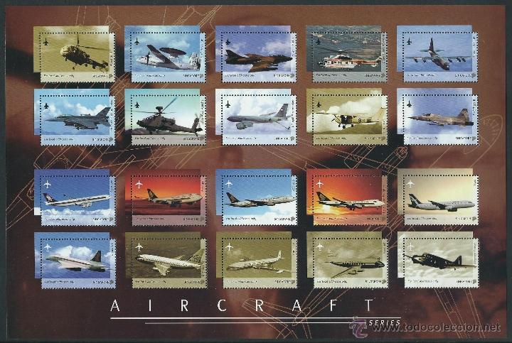 SINGAPORE 2003 AIRCRAFTS SERIES AVIONES HOJA 20 SELLOS 28X19 CM (Sellos - Temáticas - Aviones)