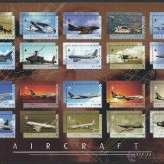 Sellos: SINGAPORE 2003 AIRCRAFTS SERIES AVIONES HOJA 20 SELLOS 28X19 CM. Lote 53383967