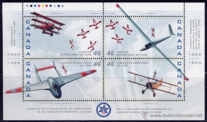 CANADA 1999 YVERT BF-35** CANADIAN INTERNATIONAL AIR SHOW (Sellos - Temáticas - Aviones)
