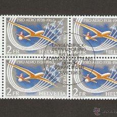 Sellos: SUIZA. 1963. AÉREO .YVERT.45 BLOCK 4. GOMA ORIGINAL. Lote 53826156
