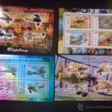 Sellos: REPUBLIQUE DE DJIBOUTI + CÔTE D´IVOIRE + MALAWI + TCHAD 2013 AVIONS (WW1 GUERRA MUNDIAL) NUEVOS ** . Lote 53875542