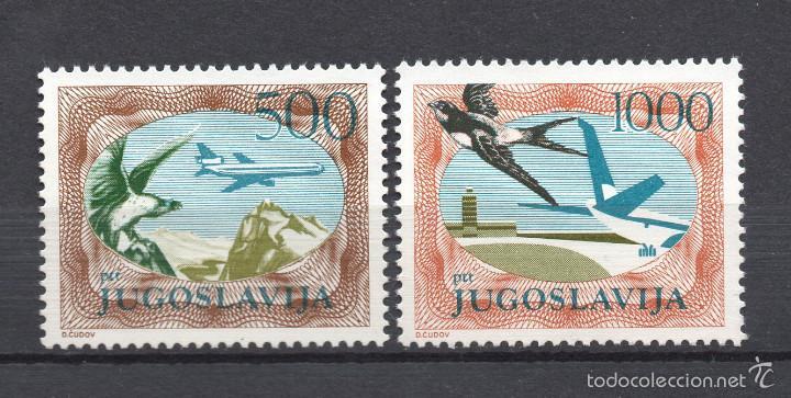 YUGOSLAVIA AEREO 59/60** - AÑO 1985 - AVIONES Y AVES (Sellos - Temáticas - Aviones)