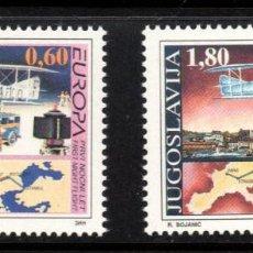 Sellos: YUGOSLAVIA 2517/18** - AÑO 1994 - AVIONES - EUROPA - LOS DESCUBRIMIENTOS. Lote 57244529