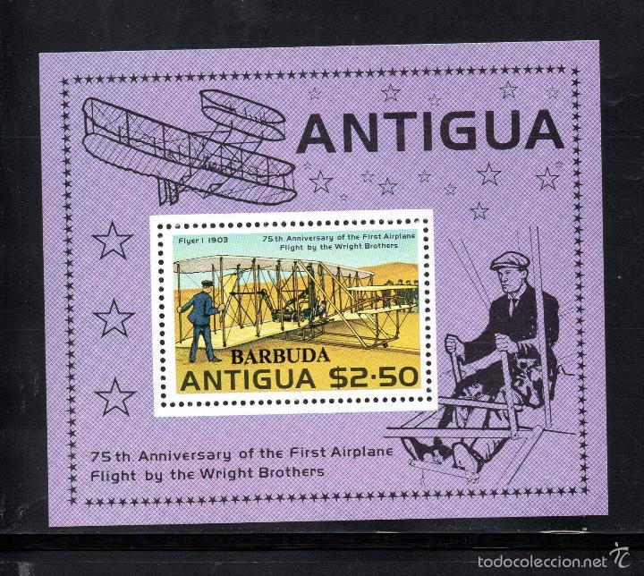 BARBUDA HB 31** - AÑO 1978 - AVIONES - 75º ANIVERSARIO DEL VUELO DE LOS HERMANOS WRIGHT (Sellos - Temáticas - Aviones)