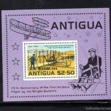 Sellos: BARBUDA HB 31** - AÑO 1978 - AVIONES - 75º ANIVERSARIO DEL VUELO DE LOS HERMANOS WRIGHT. Lote 60902415