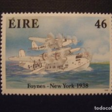 Timbres: IRLANDA Nº YVERT 656*** AÑO 1988. 50 ANIV. TRAVESIA ESTE-OESTE ATLANTICO EN HIDROAVION. Lote 65432147