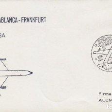 Sellos: AÑO 1971, PRIMER VUELO TENERIFE-CASABLANCA-FRANKFURT DE LUFHANSA EL 6-11-1971 ALFIL CON LLEGADA. Lote 70380441