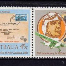 Sellos: AUSTRALIA 848/49** - AÑO 1984 - AVIONES - 50º ANIVERSARIO DEL CORREO AEREO CON NUEVA ZELANDA. Lote 116403759