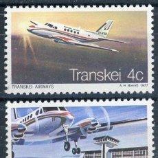 Sellos: TRANSKEI 1977 IVERT 22/3 *** 1º VUELO UMTATA - JOHANNESBURGO - AVIONES. Lote 73765051