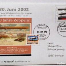 Sellos: SOBRE CON SELLO CONMEMORATIVO 100 AÑOS ZEPPELIN - 30 JUNIO 2002 - EDICION ESPECIAL . Lote 75105999