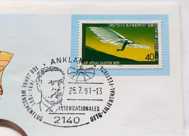 Sellos: SOBRE CON SELLO EDICION ESPECIAL AVION PLANEADOR LILIENTHAL 1891 - 100 AÑOS VOLANDO ( 1978 ) - Foto 2 - 75106467