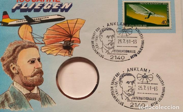 Sellos: SOBRE CON SELLO EDICION ESPECIAL AVION PLANEADOR LILIENTHAL 1891 - 100 AÑOS VOLANDO ( 1978 ) - Foto 3 - 75106467