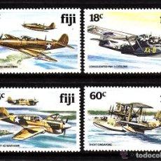 Sellos: FIJI 1981 IVERT 449/52 *** AVIONES DE LA 2ª GUERRA MUNDIAL. Lote 75337399