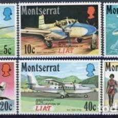 Sellos: MONSERRAT 1971 IVERT 268/73 * 14º ANIVERSARIO DE LA COMPAÑIA AEREA LIAT - AVIONES. Lote 78841025