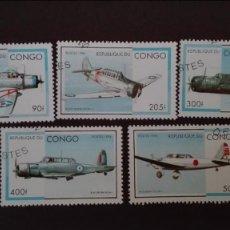 Sellos: CONGO AVIONES USADOS. Lote 89503480