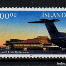 Sellos: ISLANDIA 617** - AÑO 1978 - AVIONES - AEROPUERTO DE KEFLAVIK. Lote 95795003