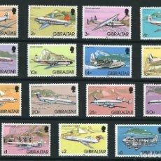 Sellos: GIBRALTAR 1982 AVIONES YVERT 439/53**. Lote 99930047
