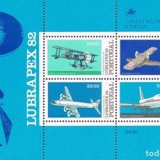 Sellos: SELLOS PORTUGAL 1982** LUBRAPEX 82 AVIONES. Lote 110707663