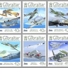 Sellos: SELLOS GIBRALTAR 2008** RAF 90TH ANNIVERSARY AVIONES. Lote 110707879