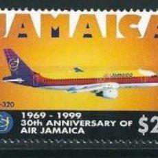 Sellos: SELLOS JAMAICA 1999** 30TH ANNIVERSARY OF AIR JAMAICA. Lote 110708243