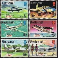 Sellos: SELLOS MONTSERRAT 1971 Y&T 268/73 ANNIVERSARY OF THE INAGURATION OF LIAT. Lote 111512355