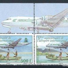 Sellos: POLINESIA 2010 Y&T 929 50 ANNIVERSAIRE DE L'AEROPORT INTERNATIONAL. Lote 111738039