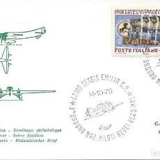 Sellos: 1978. ITALIA/ITALY. REGGIO EMILIA. MATASELLOS/POSTMARK. 3º RADUNO NAZ. PILOTI AERI. PLANES. AVIATION. Lote 112598447
