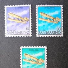 Sellos: SERIE COMPLETA 1978 SAN MARINO ANIVERSARIO VUELO HERMANOS WRIGHT. Lote 113406867