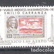 Sellos: MEXICO AÉREO Nº 473** 50 ANIVERSARIO DEL PRIMER VUELO MÉXOCO-WASHINGTON. COMPLETA. Lote 115283747