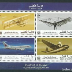 Sellos: QATAR 2003 100TH ANNIVERSARY OF AVIATION. Lote 116150907