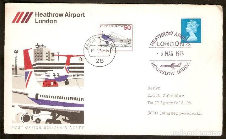 ALEMANIA FEDERAL .1976. CONCORDE - HEATHROW AIRPORT LONDON (Sellos - Temáticas - Aviones)