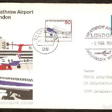 Sellos: ALEMANIA FEDERAL .1976. CONCORDE - HEATHROW AIRPORT LONDON. Lote 119511455