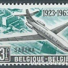 Sellos: AÑO 1963. BÉLGICA. YT 1259. MINT. 40 ANIVERSARIO DE SABEMA.. Lote 120008351