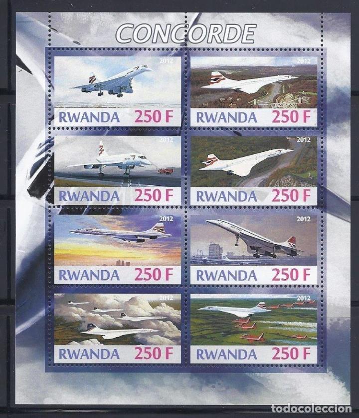 RWANDA 2012 *** AVIONES - EL CONCORDE (Sellos - Temáticas - Aviones)