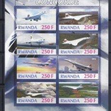 Sellos: RWANDA 2012 *** AVIONES - EL CONCORDE. Lote 120235987